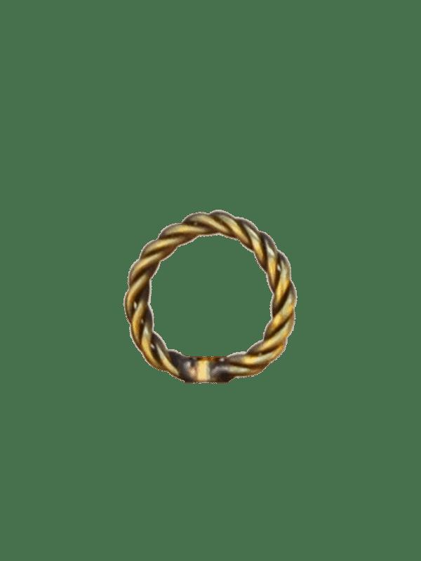 Braided Brass Ring