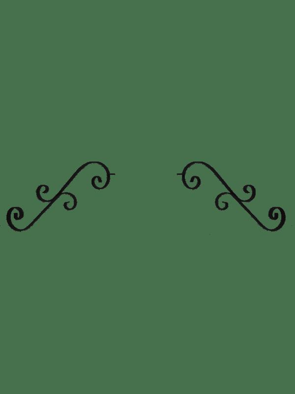 Dual Scroll Moustache