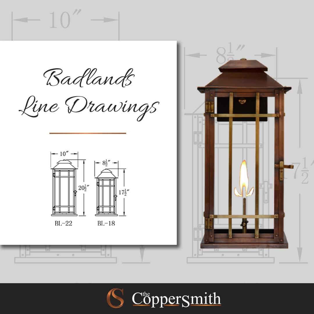 Badlands Line Drawings