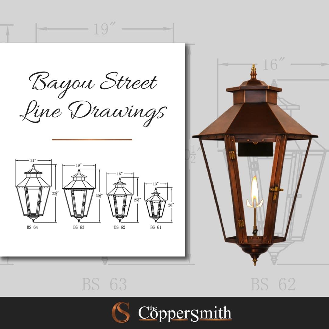 Bayou Street Line Drawings
