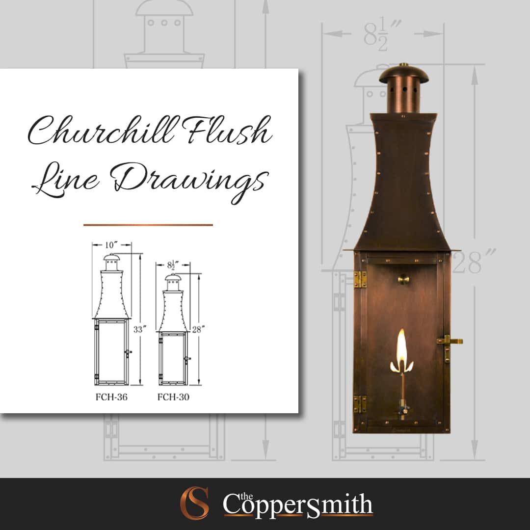 Churchill Flush Line Drawings
