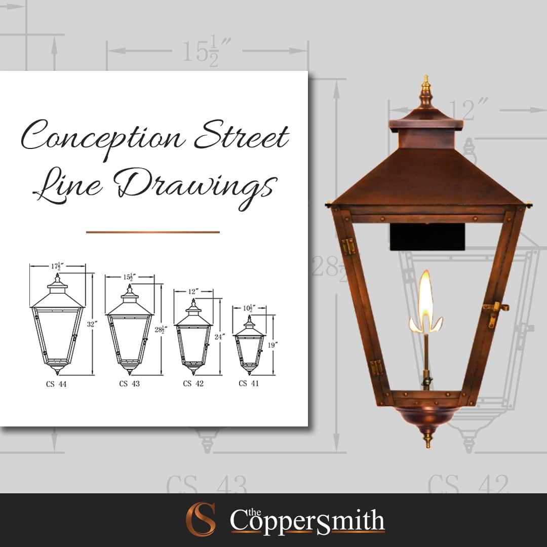 Conception Street Line Drawings