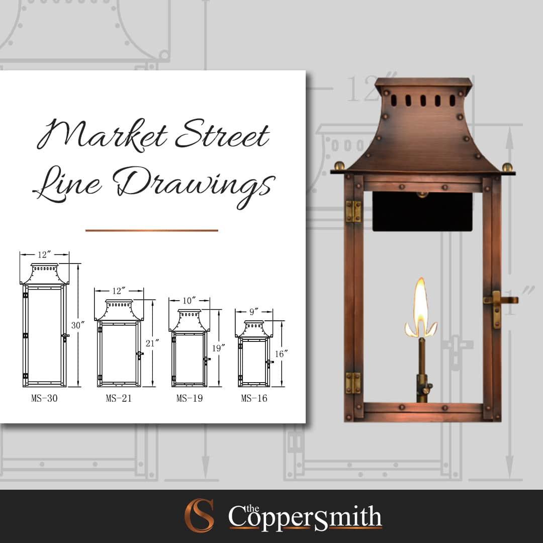 Market Street Line Drawings