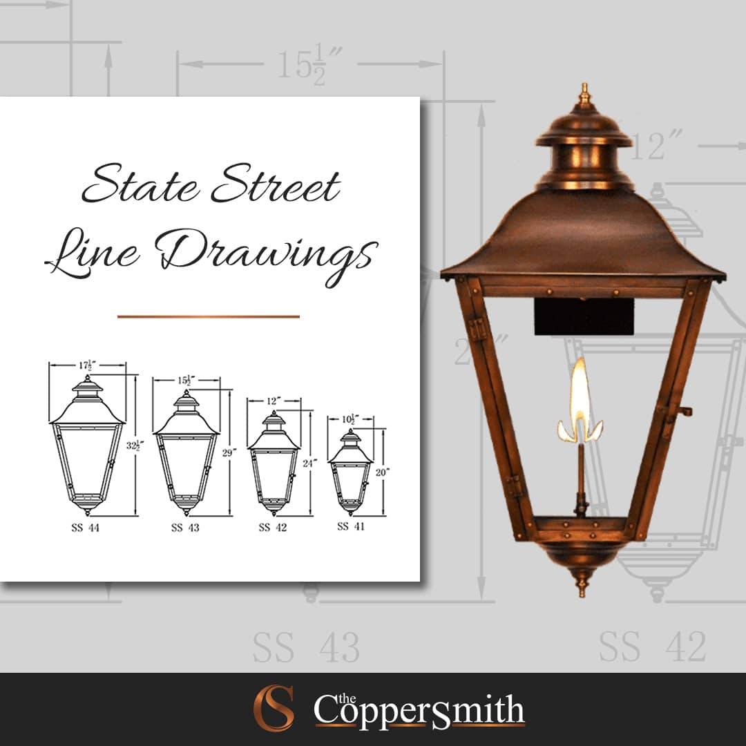 State Street Line Drawing