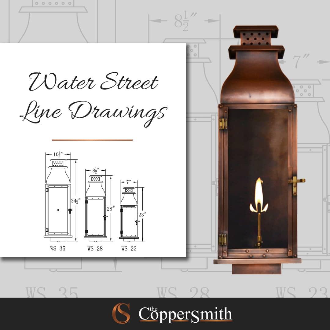 Water Street Line Drawing